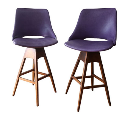 Ellie's Upholstery & Furniture - Mid Century Swivel Bar Stools