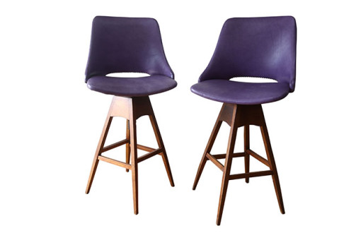 Ellie's Upholstery & Furniture – Mid Century Swivel Bar Stools