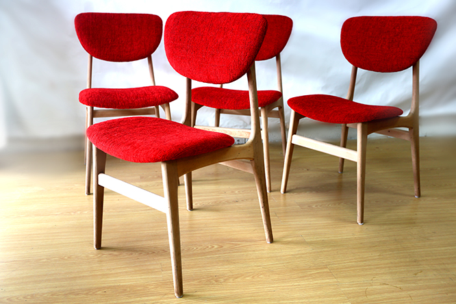 Retro mid 60 s dining chairs ellie 39 s upholstery furniture for 60 s retro furniture